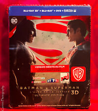 Batman v Superman Dawn of Justice - Limited Steelbook (Blu-ray 2D/3D) BRAND NEW!