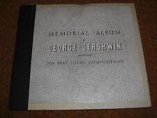 GEORGE GERSHWIN MEMORIAL ALBUM VICTOR 78 RPM RECORD SET C29 NAT SHILKRET