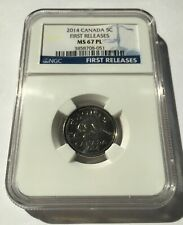 2014 CANADA MS67 PL FIRST RELEASES 5 CENTS!!!