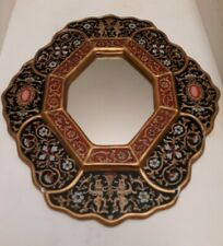 Mirror Painted Glass Floral Wall Handmade 'Black Star' NOVICA Peru 12 in x 14 in