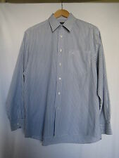 Daniel Hechter blue + white striped cotton blend shirt, size 15.1/2 / 39