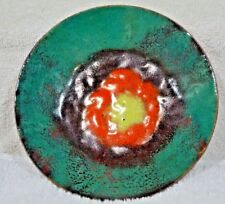 """New listing Vintage Modern Abstract 6"""" Enamel On Copper c1950s"""