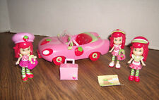 Strawberry Shortcake Scented Mini Doll Set Car Dolls & Accessories -Great Shape