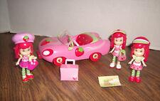 Strawberry Shortcake Scented Mini Doll Set Car Dolls & Accessories -Great Shape