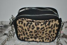 Victoria Secret Pink Crossbody Bag Cross body Bag Purse Leopard Animal Print NWT