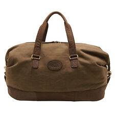 Rowallan - Khaki Canvas-Leather Travel Holdall