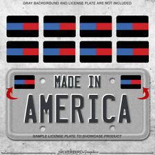 8x Thin blue and red line sticker decals license plate car Police Firefighters