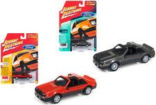 1982 Ford Mustang Gt 5.0 Grigio Arancione 4540 1/64 da Johnny Lightning Jlsp013