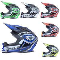 Wulfsport Adult Vantage Motocross Helmet MX Racing Quad Bike Crash ACU Gold