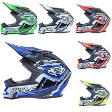 Wulfsport Motocross Casco Mx Racing Adultos Vantage Quad Bicicleta Crash ACU Oro