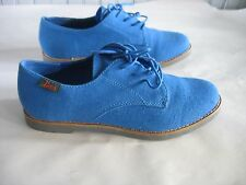 NWOT Ladies BASS shoes BLUE fabric size 7M