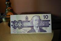 1989 $10 Dollar Bank of Canada Banknote AEV8007110 UNC