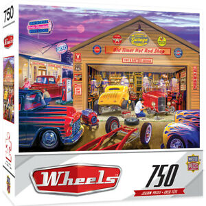 Masterpieces Wheels OLD TIMER'S HOT RODS 750 piece jigsaw puzzle NEW IN BOX
