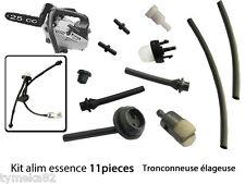 piece tronconneuse elageuse 25cc 2500 kit essence 11 pieces tuyau pompe crepine
