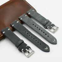 Vintage Suede Leather Watch Band Strap 18mm 20mm 22mm For Fossil Seiko Tissots