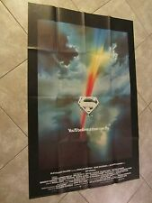 SUPERMAN movie poster CHRISTOPHER REEVE poster, 'RARE' uk LARGE double quad