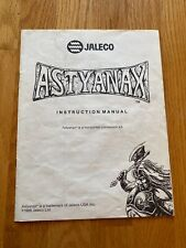 The Astyanax Video Arcade Game Instruction Manual, Jaleco 1989