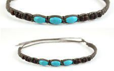 Anklet Turquoise Brown Ankle Bracelet Gypsy Boho Mens Womens Wood Bead