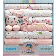 Newborn Baby Girl Pink Clothes 18 Piece/Set Gift Winter Outfit 100% Cotton