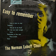 """THE NORMAN LUBOFF CHOIR - EASY TO REMEMBER  10""""  LP (P737)"""