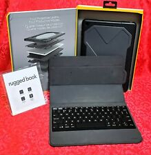 Zagg Wireless Impact Resistant Magnetic Keyboard & Case Rugged Book , IPad 1-6