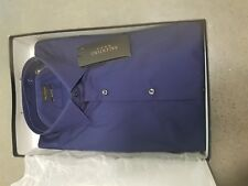 valentino Roma Men's Slim Fit Navy Long Sleeve Cotton Shirt Size 42eu or 16.5us