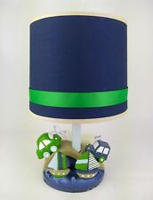 Kids Line 'Cambridge' Lamp Base & Shade. Hand painted base featuring boats/cars.