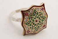Motif Turkish Jewelry Rolexana Ruby Topaz 925 Sterling Silver Ring Size All Size