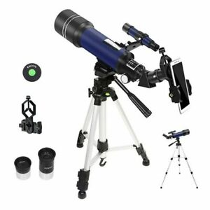 Powerful 70mm Astronomical Telescope Tripod Phone Adapter Monocular HD Kid Gifts