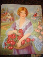 Vintage Calendar Print ROSALIE Old & Original