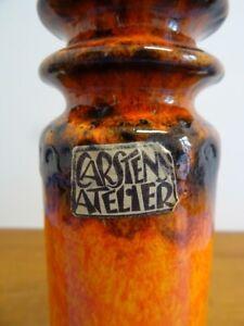Carstens Peking Vase Keramik Keramikvase orange klasse Glasur 70er