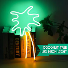 Coconut Tree LED Neon Sign Light Decor Beer Bar Bedroom Wall Art Christmas Party