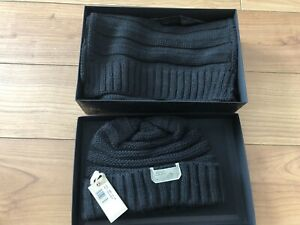 Diesel Knitted Navy Hat And Scarf Set New Boxed With Tags