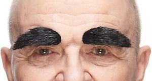 Quality Fake Black Bushy Eyebrows 3M Self Adhesive Faux Facial Hair Men's