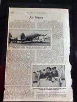 M68b  Ephemera 1940s Article Ww2 Hudson Survives Bombing Run