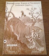 c1930s Northwestern School of Taxidermy Supplies Catalog No. 92 Lynn Bogue Hunt