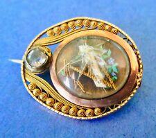 in Original Box ca. 1780-1830 Antique Georgian 14K Gold Mourning Pin
