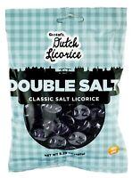 Gustafs Dutch Licorice Double Salt Classic Salt Licorice Coins 5.2 oz NON GMO