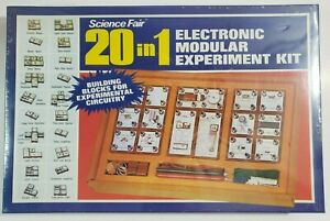 Vintage Science Fair 20 in 1 Electronic Modular Experiment Kit Circuit SEALED!!!