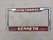 License plate frame HAWTHORNE California KENNETH Chevrolet nice and clean