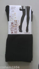 Modern Heritage Fleece TIGHTS W FOOT Blacks Warm Soft Comfortable L / XL