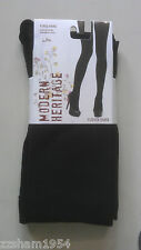 NWT Modern Heritage Fleece TIGHTS W FOOT Blacks Warm Soft Comfortable L / XL