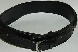 Nice Black Leather Wyoming drop cartridge belt .44cal hand tooled Right Hand 32