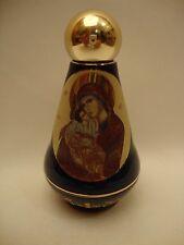Byzantine Icon Ceramic Virgin Mary Jesus & POPE Holy Water Bottle