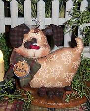 Primitive Puppy Dog Doll Shelf Ornie Paper Pattern #437