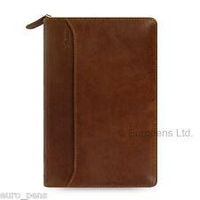 Filofax Personal Size Lockwood Leather Zipped Organiser - Cognac Brown (021692)