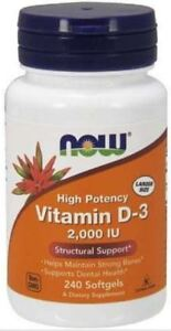Vitamin D-3 2000 IU 240 Softgels by NOW Foods