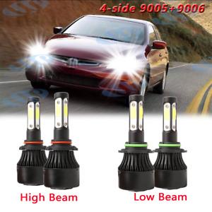 For Honda Civic 2006 2007 2008 2009 2010 2011 4-side LED Headlights Bulbs 6000K