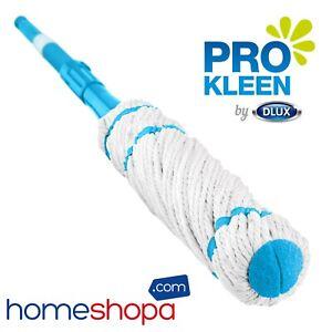 Extendable Twist Mop Microfibre Cotton Mop Head Adjustable Handle Self Wringing
