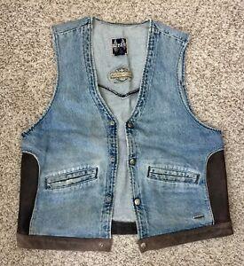 Vtg Authentic Harley Davidson Biker Blues Men' Vest (size L) Made in USA